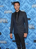 Jack Huston hit the red carpet solo before heading inside to party.
