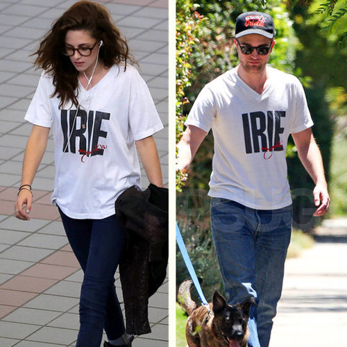 Video Of Kristen Stewart Wearing Robert Pattinson's T-Shirt