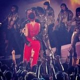 """Rihanna performed """"Cockiness (I Love It)"""" with A$AP Rocky. Source: Instagram user vh1"""