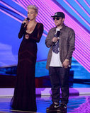 Miley Cyrus and Mac Miller were onstage together.