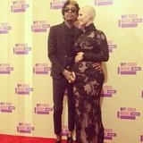 Whiz Khalifa and Amber Rose announced their baby news on the red carpet.  Source: Instagram user mtv