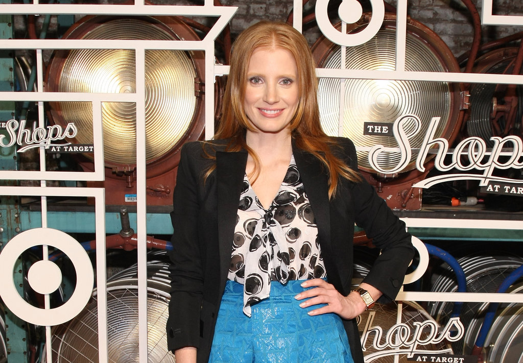 Jessica Chastain partied in NYC.