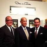 Oscar de la Renta was the main attraction at Saks Fifth Avenue in NYC.  Source: Instagram user s5a