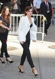 Emma Watson wore a white blazer in NYC.