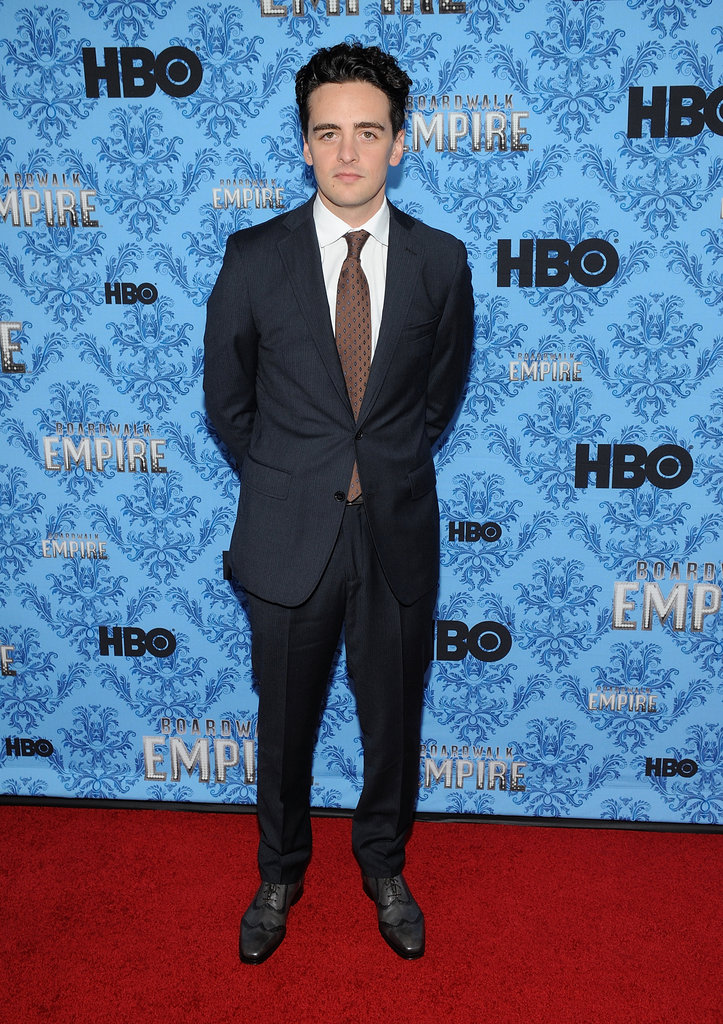 Vincent Piazza looked dapper in a navy suit.