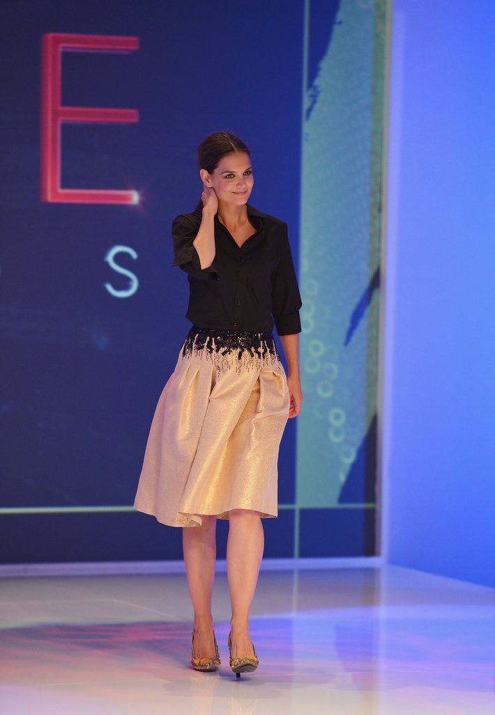 Katie Holmes took the stage at the Style Awards in a full skirt.