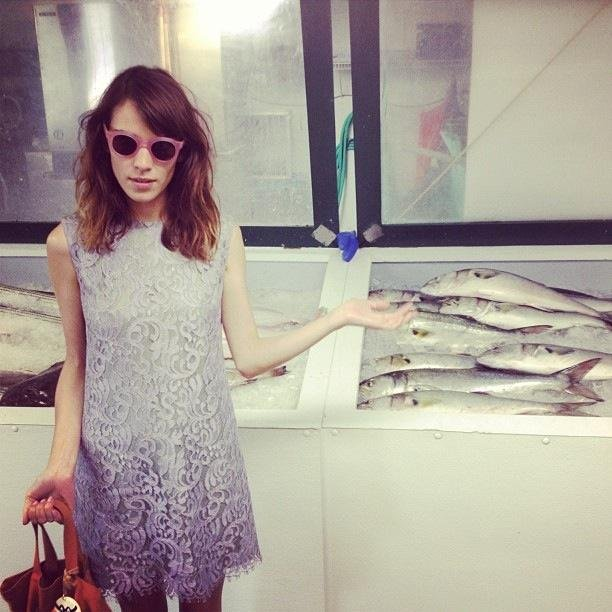 Alexa Chung spotted some fish. Source: Twitter user alexa_chung