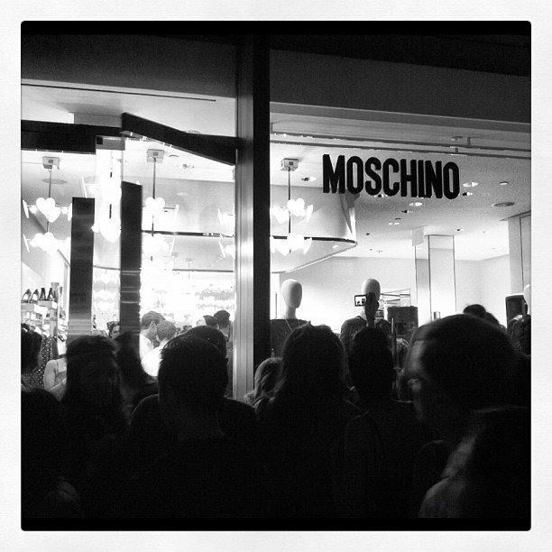 The lines to see Alexa Chung at Moschino seemed to grow by the second outside.