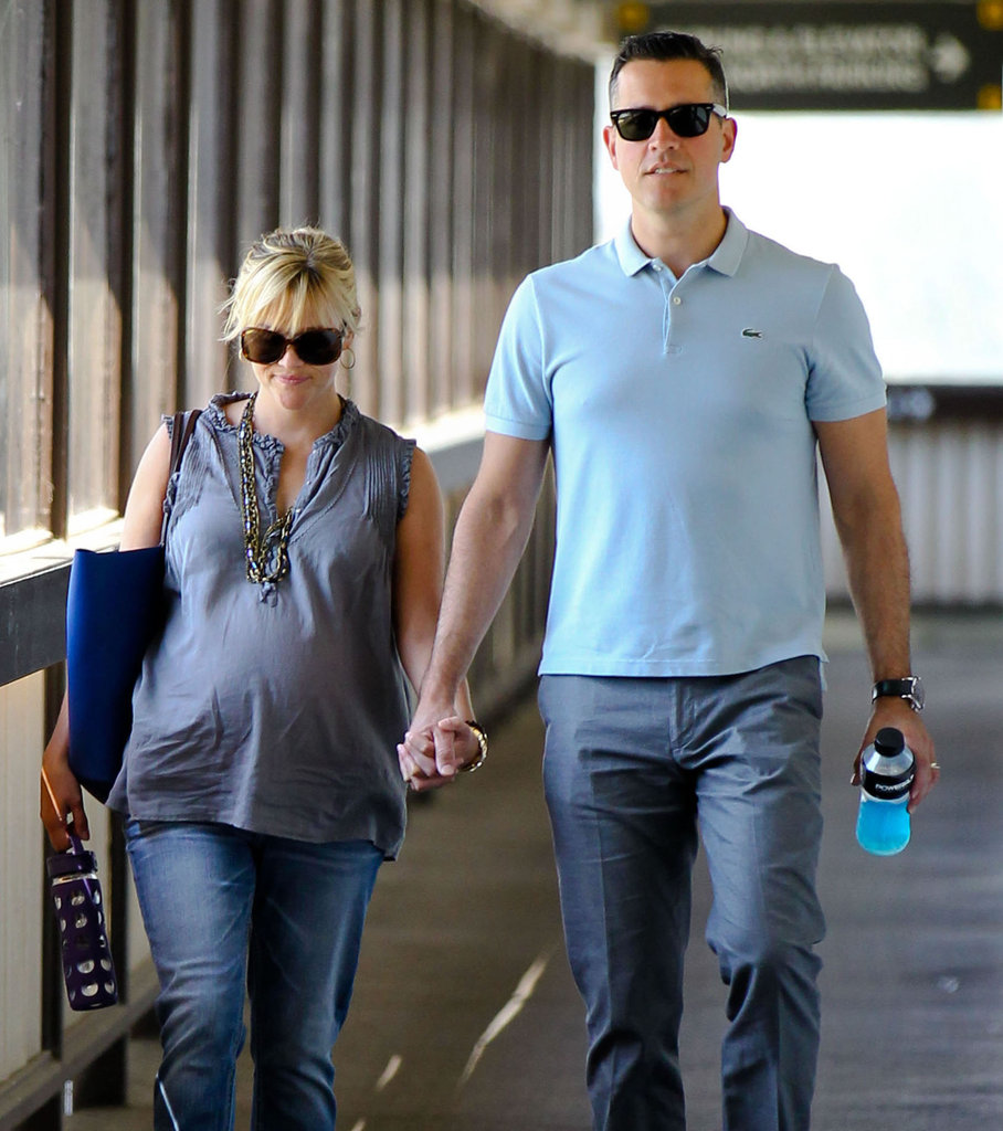 Pregnant Reese Witherspoon Shares a Smile With Jim Toth