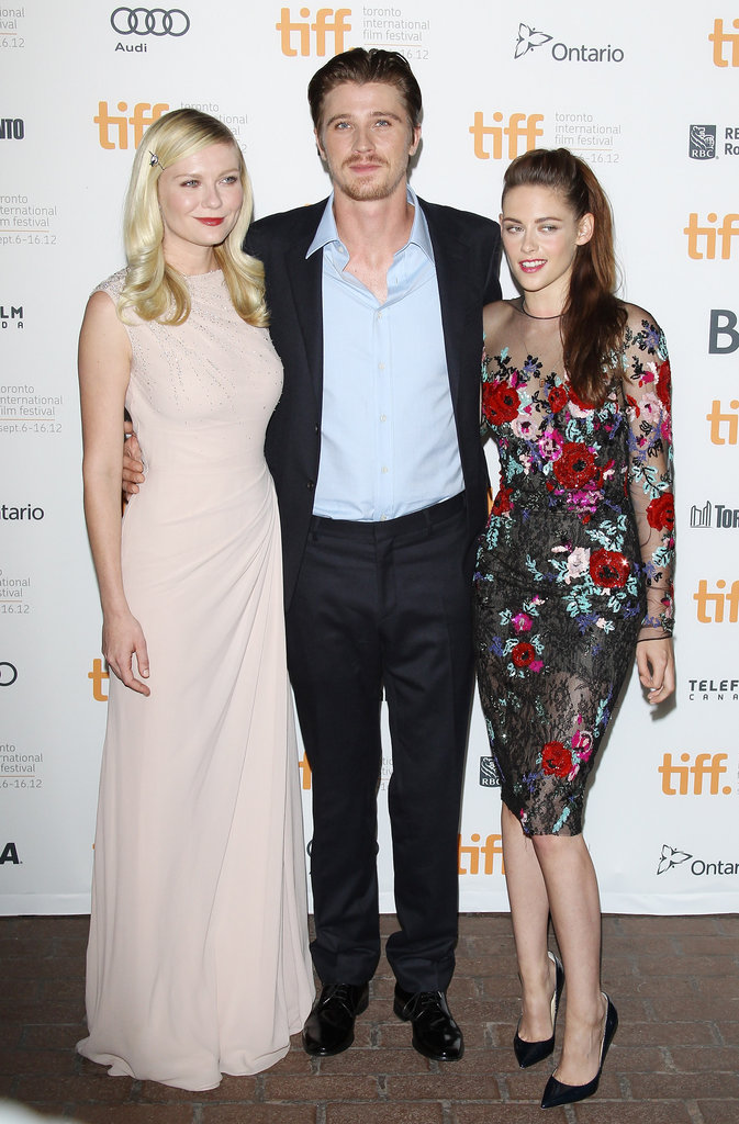 Kristen Stewart Smiles in a Sheer, Floral Dress on the TIFF Red Carpet