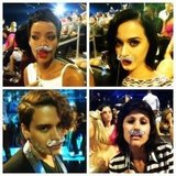Katy Perry and Rihanna got playful with some props. Source: Instagram user mdmolinari