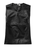 Iris & Ink Leather Sleeveless Top ($195)