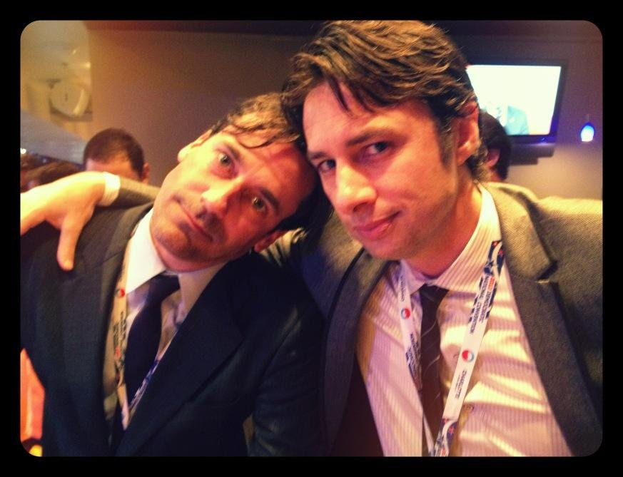 Jon Hamm and Zach Braff