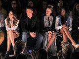 Shenae Grimes, Ryan Lochte, Lauren Conrad and Tika Sumpter sat front row at the Rebecca Minkoff show.