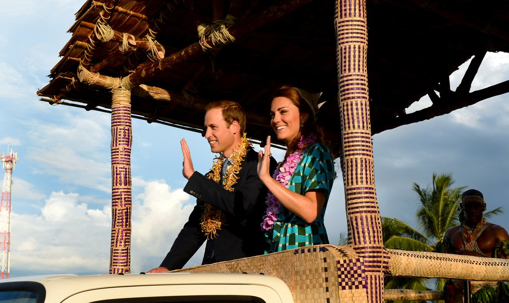 Will and Kate have been charming locals on their trip on behalf of Queen Elizabeth.