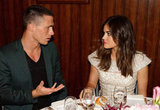 Lucy Hale and her guest, Colton Haynes, chatted over dinner.