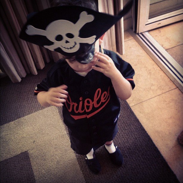 Joel Madden documented Sparrow Madden's third birthday.  Source: Instagram user joelmadden