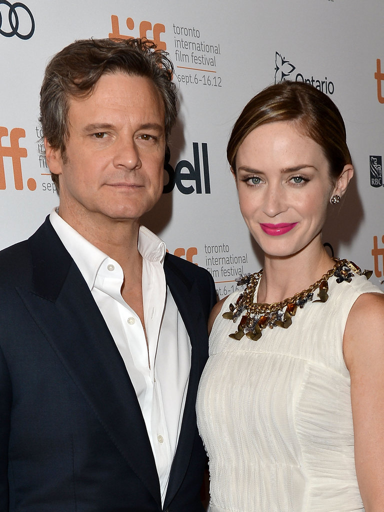 Emily Blunt and Colin Firth arrived at the Arthur Newman premiere.