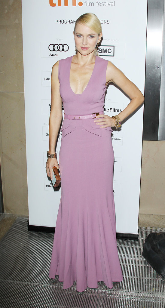 Naomi Watts wore Elie Saab in Toronto.