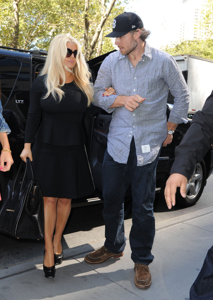 Jessica Simpson and Eric Johnson grabbed lunch in NYC.