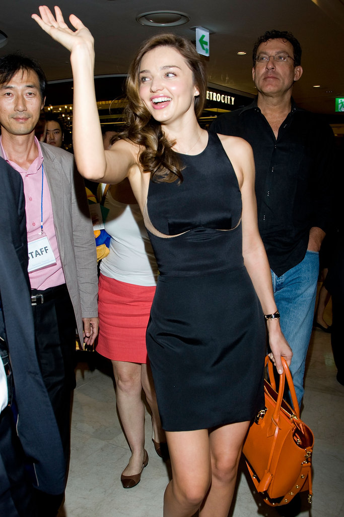 Miranda Kerr went to an event for Samantha Thavasa handbags at Seoul's Lotte Department Store.