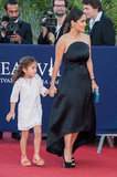 A stylish little Valentina accompanied mom Salma Hayek on the red carpet at the closing ceremony of the Deauville American Film Festival in France.