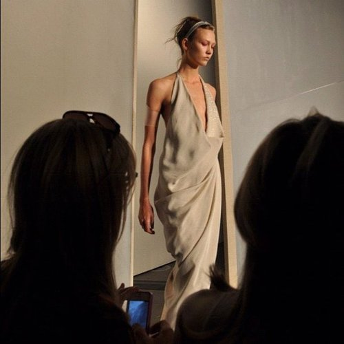 Karlie Kloss was rocking it on the runway at the Donna Karan show. Source: Instagram user fashion_critic_