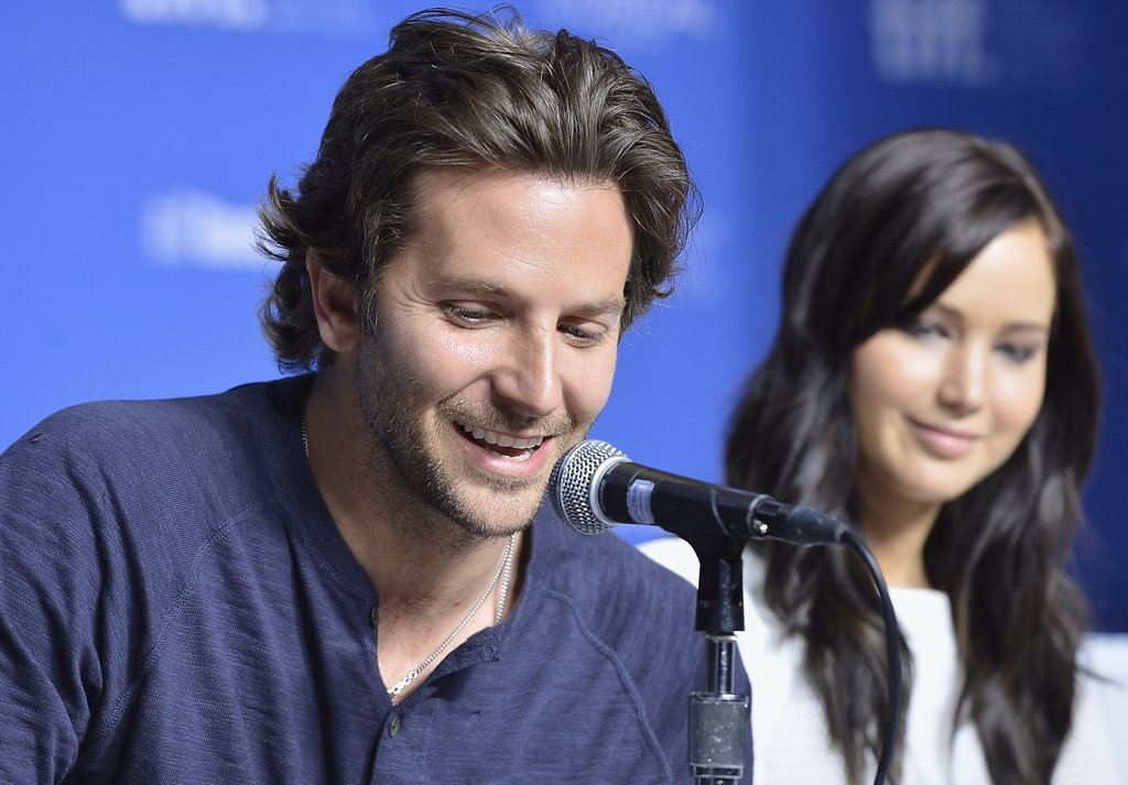 Jennifer Lawrence and Bradley Cooper did press.