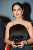 Salma Hayek received a tribute for her career during the closing ceremony of the 38th Deauville American Film Festival.