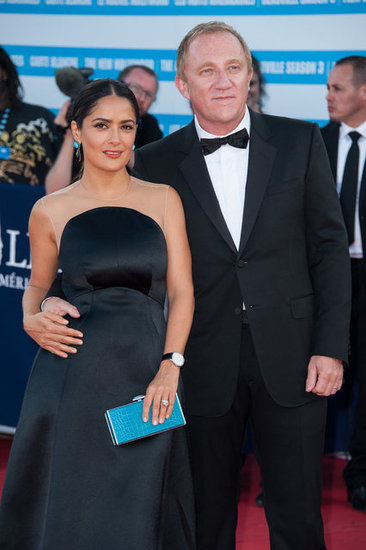 Salma Hayek and her husband, François-Henri Pinault, arrived at the closing ceremony.