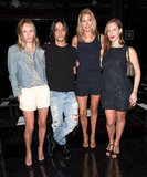 Olivier Theyskens posed with Kate Bosworth, Doutzen Kroes, and Liz Goldwyn.