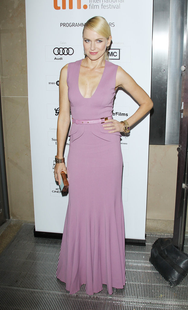 Naomi Watts wore Elie Saab to the Toronto International Film Festival.