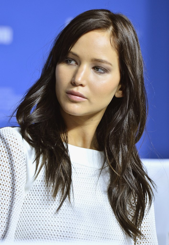 Jennifer Lawrence attended a press conference.