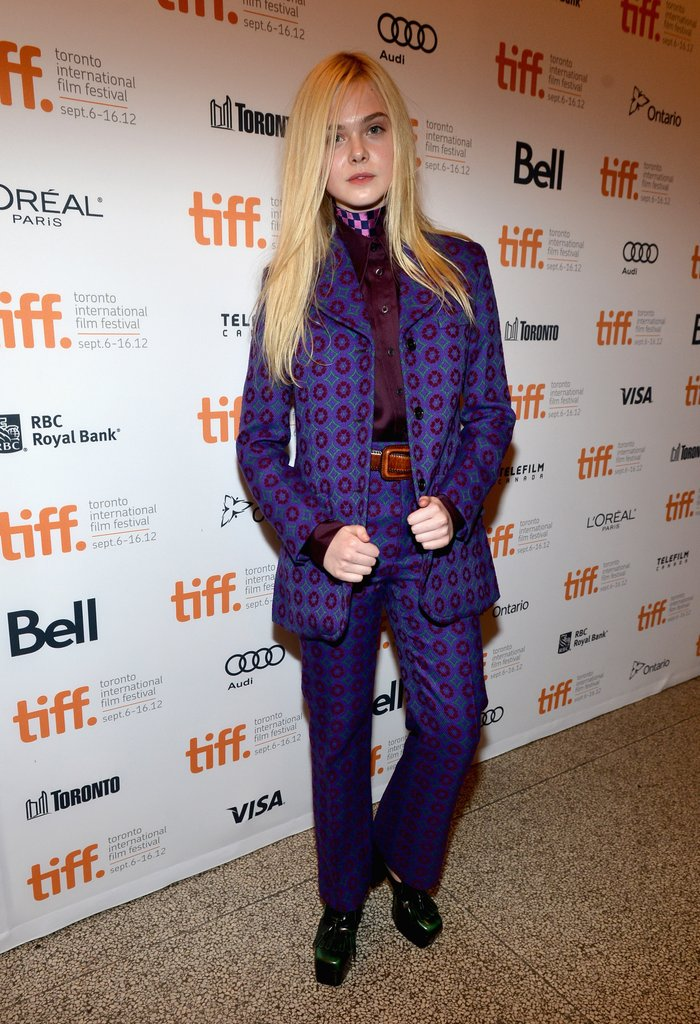 As if she had just stepped off the Fall 2012 runway, Elle Fanning wore head-to-toe Miu Miu, which gave her a distinctly retro vibe.