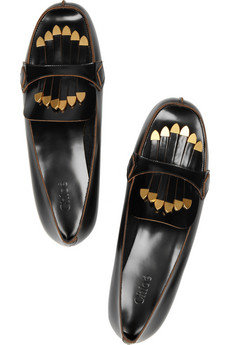 Chloé|Fringed patent-leather loafers|NET-A-PORTER.COM