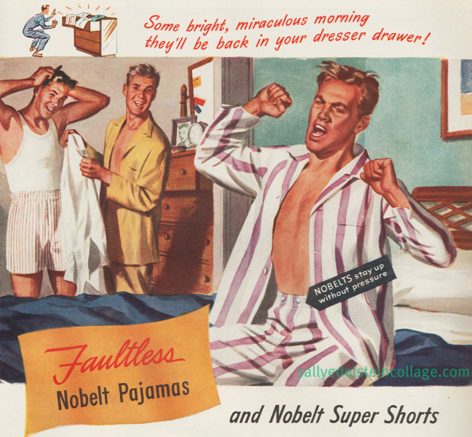And for an example of an ad with unintentionally homosexual undertones, there's this pajamas ad for men.