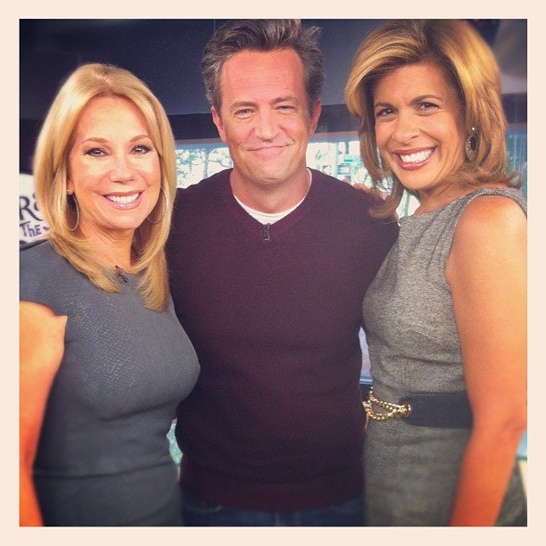 Matthew Perry visited Kathie Lee and Hoda Kotb on the Today show to talk about NBC's Go On. Source: Instagram user todayshow