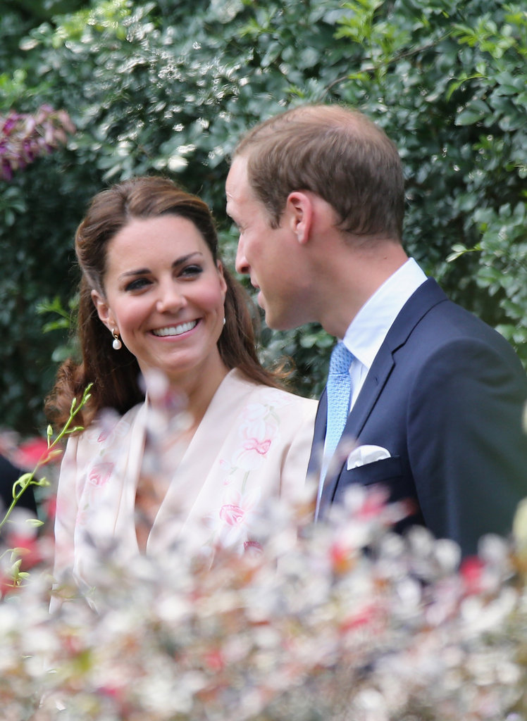 Kate flashed a smile at Prince William.