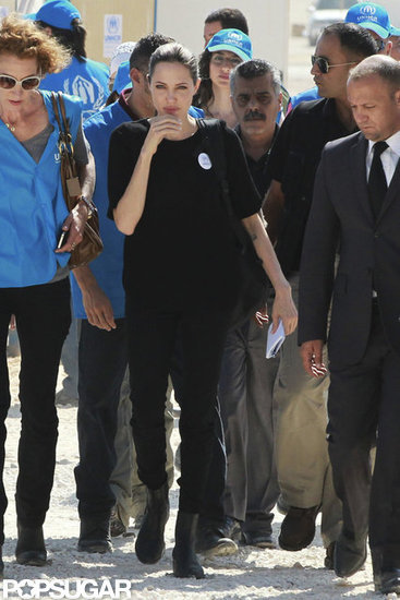 Angelina Jolie visited the Al Zaatari refugee camp in Jordan.