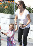 Jennifer Garner and Seraphina Affleck left the Santa Monica Police Station.
