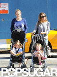 Sarah Jessica Parker strolled her twins, Loretta and Tabitha, around the West Village.