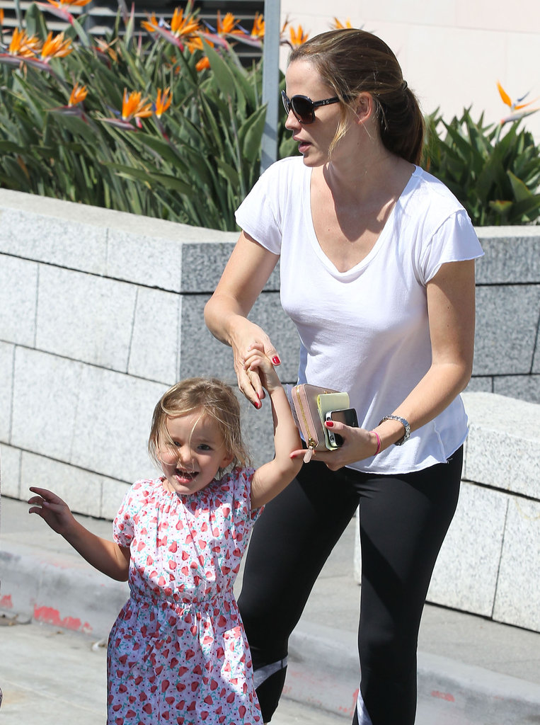 Seraphina Affleck was all smiles as she held her mom, Jennifer Garner's, hand.