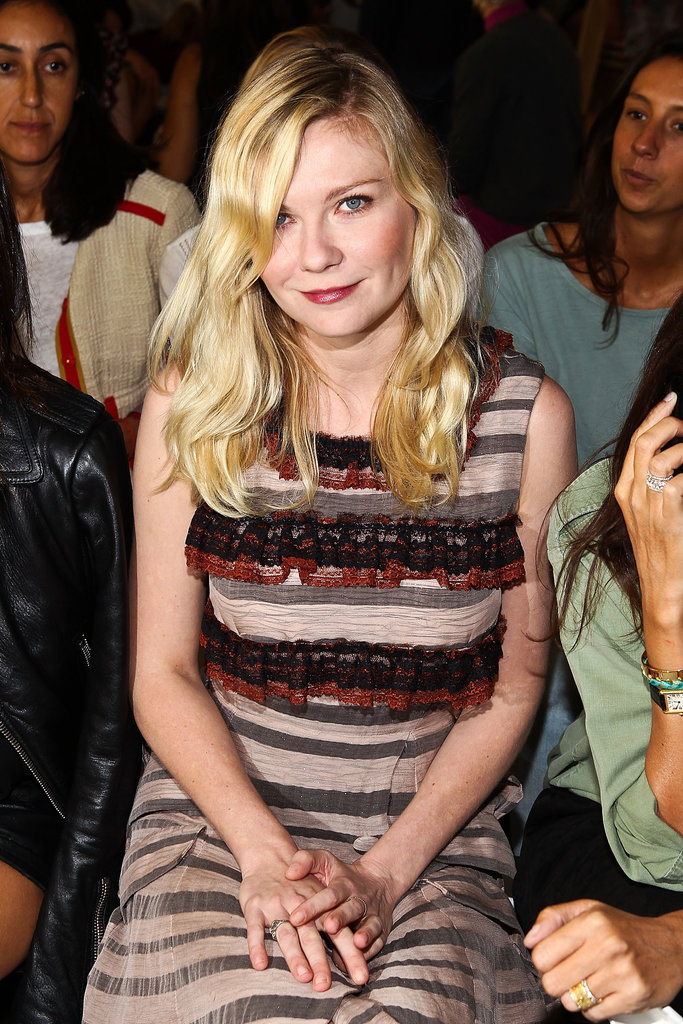Kirsten Dunst sat front row for the Rodarte show.