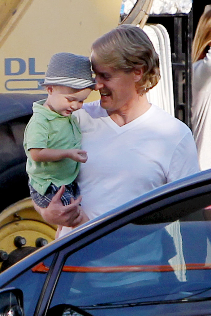 Owen Wilson With Son Robert Ford on Set | Pictures ...