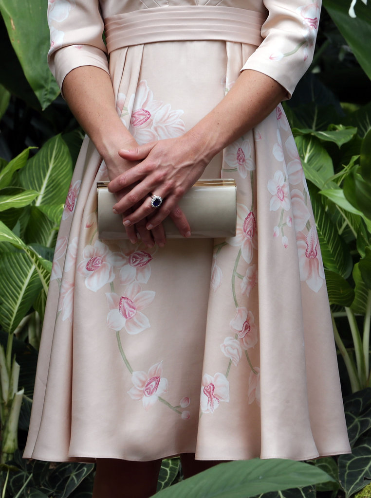How gorgeous is this Jenny Packham dress? The delicate orchid pattern is both evocative and feminine.