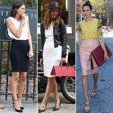 Fashion Week Street Style Pencil Skirt Trend