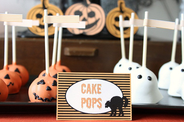 Jack-o'-Lantern and Ghost Pops