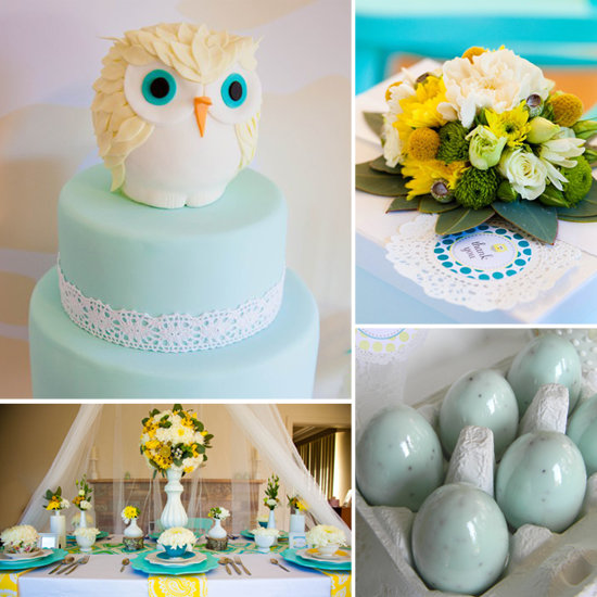 owl themed baby shower popsugar moms