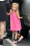 Seraphina Affleck looked cute in a pink dress.