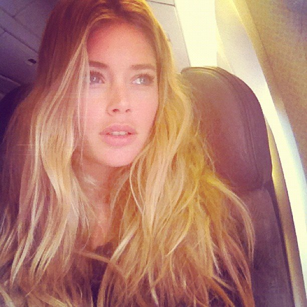 Doutzen kroes caught a solo flight to miami source instagram user